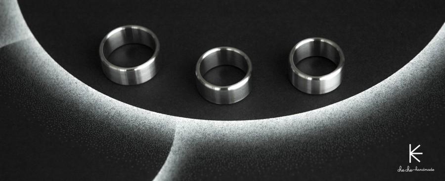 Plieninis masyvus žiedas B2B labai stora sienele